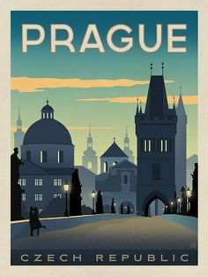 czech travel vintage poster - Google Search