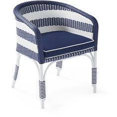 Serena & Lily Outdoor Riviera Bucket Chair with Cushion ($598) ❤ liked on Polyvore featuring home, outdoors, patio furniture, outdoor chairs, outdoor furniture, outdoors patio furniture, weatherproof outdoor furniture and outdoor patio furniture