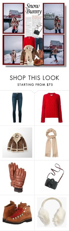 """""""Snow Bunny"""" by malinda108 ❤ liked on Polyvore featuring Frame, Lanvin, Abercrombie & Fitch, MaxMara, Madewell, Danner, winterstyle and galmeetsglam"""