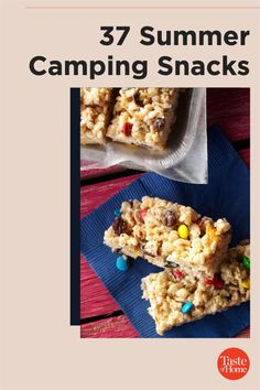 If you're planning on spending time in the great outdoors, be sure to pack a few of these camping snacks that are sure to satisfy any cravings. Yummy Snacks, Snack Recipes, Dessert Recipes, Summer Desserts, Fun Desserts, Mustard Pretzels, Black Bean Brownies, Camping Snacks, Kale Chips