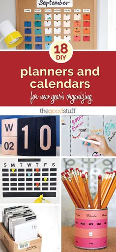 18 DIY Planners and Calendars for New Year's Organizing | thegoodstuff