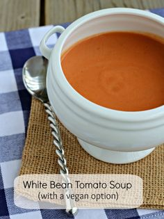 White Bean Tomato Soup | RachelCooks.com