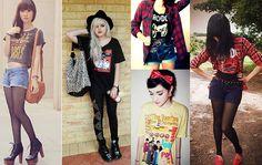 oe7 Camisetas de Banda de Rock Femininas. Você curte?