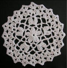 Free crochet dishcloth pattern: Pentagon