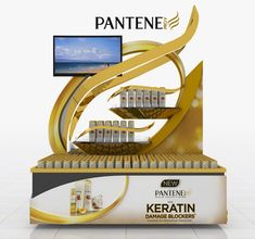 Different Concepts For Posm For Pantene Relaunch. Exhibition Display Stands, Pos Display, Exhibition Stall, Exhibition Stand Design, Display Design, Product Display, Store Design, Pos Design, Retail Design