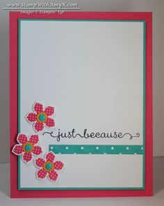 Petite Petals Just Because Card & New Weekly Deals from Stampin' Up! - Stamp With Amy K