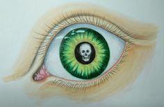 ...dem Tod ins Auge blicken... Atelier, Human Body, Death, Painting Art