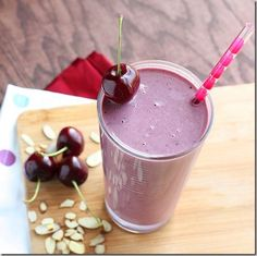 Cherry Almond Protein Smoothie