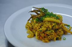 Arroz de lula com curry vermelho | squid rice with red curry