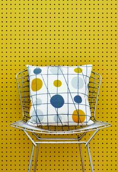 We are loving Peggy, the second wallpaper design from Mini Moderns  'Hinterland' collection. Inspired by the humble peg board displays from  junk shops and hardware stores in the surrounding areas of the Mini Moderns  beach house in Dungeness. Totally fresh and utterly cool.  Peggy is now available to buy online, 52cm x 10m Roll - £45