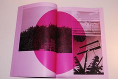 colour pink. circle shape. overlay. black and white. abstract layout