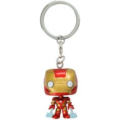 Marvel Funko Marvel Avengers: Age Of Ultron Pocket Pop! Iron Man Key... ($6.50) ❤ liked on Polyvore featuring multi