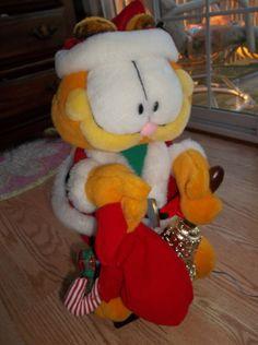 9d9aedc162c Garfield santa suit Animated Musical Christmas Figure Motionette 20