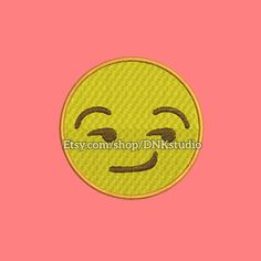 Smirk Face Emoji Emoticon Machine Embroidery Design  This design manually made by hand, from start to finish. It is a digitized embroidery design for a buyer who has an embroidery sewing machine.  https://www.etsy.com/listing/479351842/smirk-face-emoji-emoticon-machine  #stitch #digitized #Sewing #Needlecraft #stitches #Embroidery #Applique #EmbroideryDesign #pattern #MachineEmbroidery #Heart #Eyes #Emoji #Emoticon #smirk #face