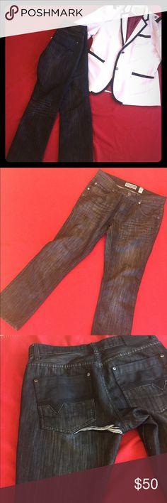 Men's Jeans Skinny straight leg black jeans INC International Concepts Jeans Slim Straight