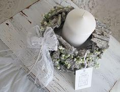 Kränze - Naturkranz *Maiglöckchen*Shabby Chic,weiss-grau** - ein Designerstück von ifb bei DaWanda