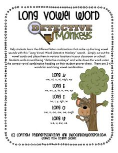 Word Detective Monkeys: Long Vowels