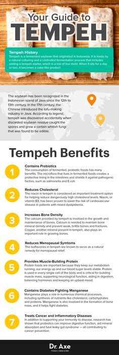 Tempeh guide - Dr. Axe http://www.draxe.com #health #holistic #natural
