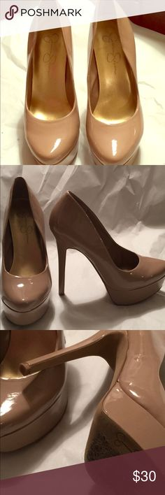Jessica Simpson pump Dressy Platform that will add style to your wardrobe. Price sticker marks on the soles. Worn twice. No nicks or scratches. Perfect condition. Jessica Simpson Shoes Platforms