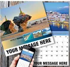2021 World Travel Destinations Wall Calendars with your Business Name, Logo & Ad Message - low as Advertise in the homes and offices of people in your area every day! Calendar App, Print Calendar, Free Advertising, Ads, Promotional Calendars, Date Squares, Unusual Facts, Wall Calendars, Us Holidays