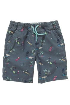 Buy Blue/Surf And Skeleton Print Pull-On Shorts Two Pack (3-16yrs) from the Next UK online shop