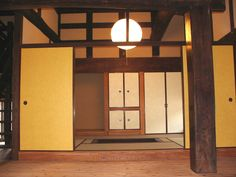 Traditional Japanese remodeled Tatami room from living floor. The main wood frames were replaced from Yogo, one of the very snowy religions located northern Shiga prefectures in Japan. The original house was build about 350 years ago.
