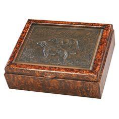 Hunting Dog Box - 8W x 3H in. - 0184-HDVG-HM