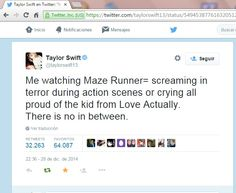 Day 185. I´m still nott over the fact that Taylor Swift watched The Maze Runner and tweeted about Thomas Brodie Sangster.