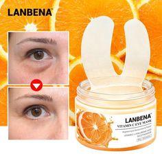 Vitamin C Eye Mask Eye Patches Serum Remove Eye Bag Eye Lines Improve Skin Allergy Test, Vitamin C Mask, Reduce Dark Circles, Centella, Eye Gel, Facial Masks, Eyeliner, Eyeshadow, Patches
