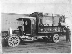 W. J. Blackwood Co. Truck - The Clydesdale Motor Truck Company built truck bodies in Clyde, Ohio, between 1917 and 1939. The trucks were marketed in the U.S. and other countries, and many were used in World War I. Two of the special features available on the trucks were a special type of radiator and a patented automatic controller that acted as a governor.