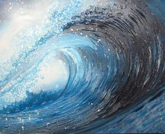 Waves painting