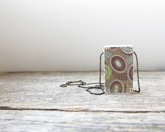 Rustic woodland urchin style print wood pendant by Behindtheshed, $15.00