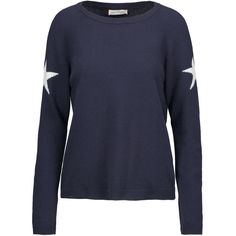 Chinti and Parker - Intarsia-knit Merino Wool And Cashmere-blend... ($212) ❤ liked on Polyvore featuring tops, sweaters, midnight blue, knit top, merino wool sweater, merino sweater, chinti and parker sweater and intarsia sweater