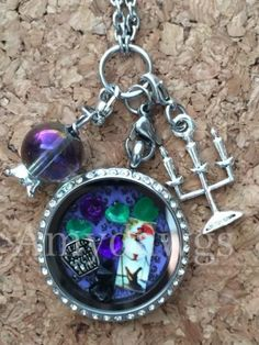 Disney's Haunted Mansion Inspired Memory Locket Haunted Mansion Locket Necklace