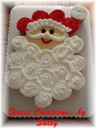 Santa Cupcake Cake, photo only