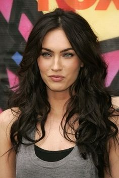 long, dark hair  I want this hair length!! lol might take me like 5 years