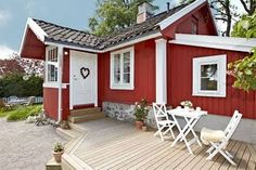 beyond cute red cabin