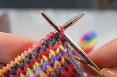 Tutorial for invisible elastic bind off. 1 by crankygrrrrrl, via Flickr