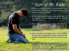 Signs of Mr. Right
