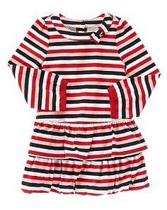 Stripe Bubble Hem Dress