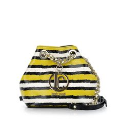 Just Cavalli mała torebka na ramię żółto-czarna
