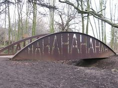 Ha Ha bridge by Rob Ryan Yorkshire Sculpture Park