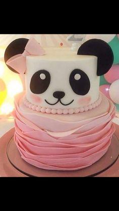 #pandapartyideas #pandapinkcake