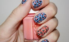 Love these colors!  Leopard Nail Art Tutorial