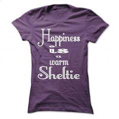 HAPPINESS IS A WARM SHELTIE - #hoodie fashion #sweatshirt blanket. I WANT THIS => https://www.sunfrog.com/States/HAPPINESS-IS-A-WARM-SHELTIE-Purple-Ladies.html?68278