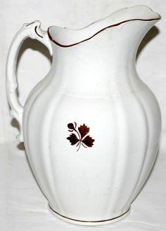 071337: A. MEAKIN IRONSTONE COPPER TEA LEAF PITCHER : Lot 71337