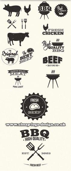 steakhouse logo ideas www.cheap-logo-design.co.uk #bbq #steakhouselogo #beef