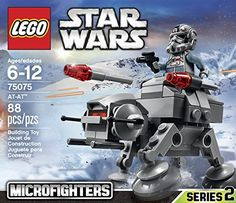 "LEGO 75075 Star Wars Microfighters Series 2 AT-AT. My 4-year-old loves this. The wings move and the cylinders on each side can spin, so there's more stuff for her to ""do"" with it than just fly it around when playing. The figurine also has two different faces to give it different expressions. It was easy to put together and holds together well. toys4mykids.com"