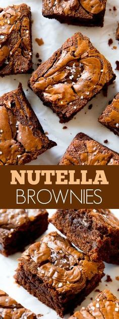Nutella Brownies - Using Nutella as the chocolate flavor in easy homemade brownies takes them to the next level!!