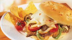 Add something spicy to your family's Southwestern dinner! Serve steak and cheese over buns for this hearty sandwich - a delicious meal.
